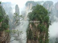 The Hallelujah Mountains in Zhangjiajie
