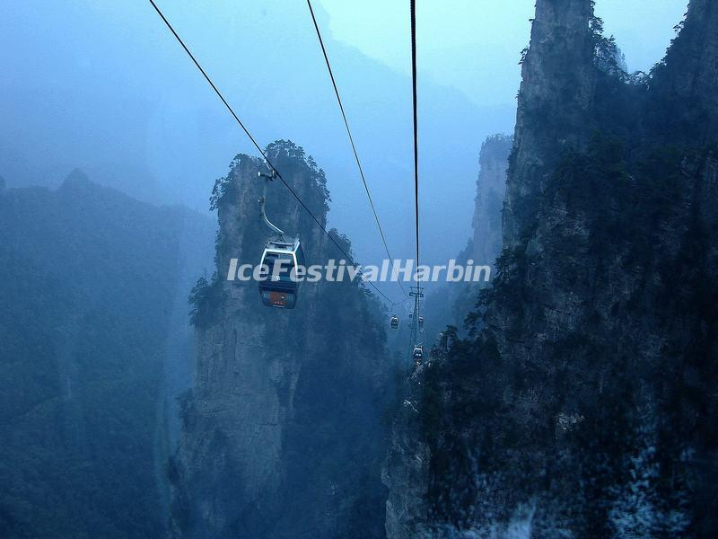 The Cable Car in Yuanjiajie, Zhangjiajie