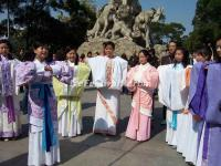 Girls in Han Dynasty Garments in Yuexiu Park