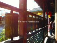 The Prayer Wheels in Lijiang Yufeng Lamasery