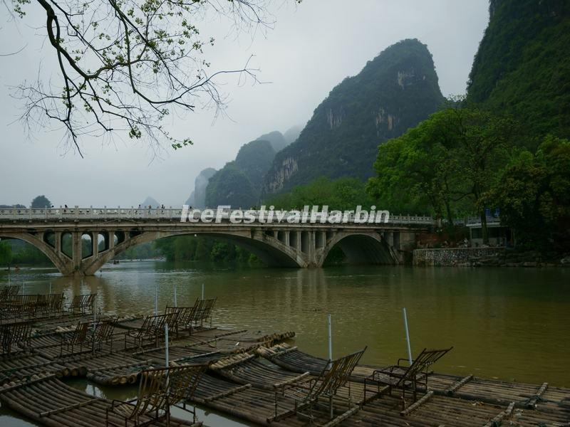 The Gongnon Bridge on Yulong River, Yangshuo