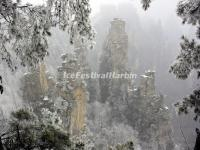 Zhangjiajie National Forest Park in Snow