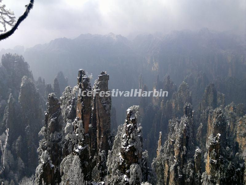 Zhangjiajie National Forest Park in December