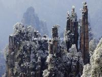 Zhangjiajie National Forest Park - Tianzi Mountain in Snow
