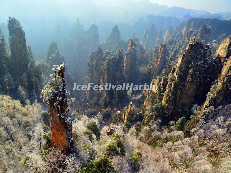 Zhangjiajie National Forest Park in January