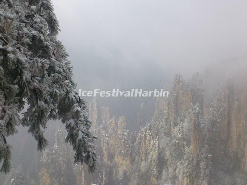 Zhangjiajie National Forest Park Snowscape