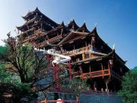 The Buildings in Zhangjiajie Tujia Folk Custom Park