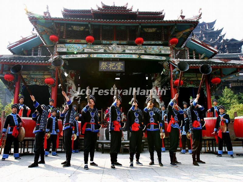 The Sacred Hall in Zhangjiajie Tujia Folk Custom Park
