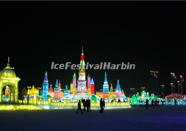 The Ice Lantern Fair in Harbin Zhaolin Park