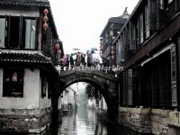 An Ancient Bridge in Zhouzhuang Water Town