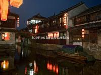Zhouzhuang Water Town Night Scene